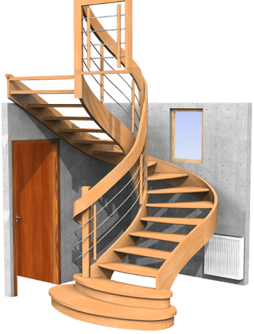 Wizualizacja fotorzeczywista schodów
