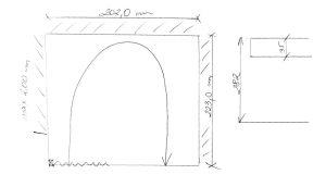 szkic schodów projektowanie